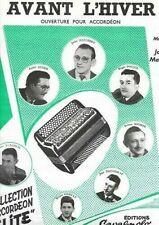 Partitions de chansons anciens et vintage pour accordéon