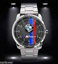 BMW M POWER LOGO M3 M4 M5 M6 Stainless Steel Sport Metal Watch