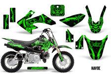Honda CRF50 Dirt Bike Graphics Sticker Kit Decal Wrap MX Deco 04-15 HAVOC GREEN