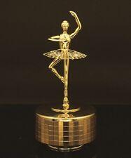 24K GOLD PLATED BALLERINA MUSIC BOX SWAROVSKI CRYSTAL ELEMENT 6 MUSIC CHOICES