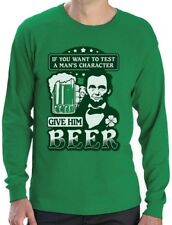 St.Patrick's Party Abe Lincoln Beer Clover Irish Long Sleeve T-Shirt Gift Idea