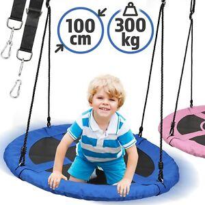 Physionics® Nestschaukel Tellerschaukel Rundschaukel Gartenschaukel 100cm 300kg