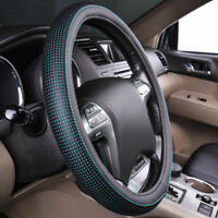 Universal Car Steering Wheel Cover PU Leather Black Mint 37 38CM for Honda Ford