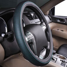 Universal Steering Wheel Cover PU Leather Black Mint For Boy 37 38CM Honda Ford