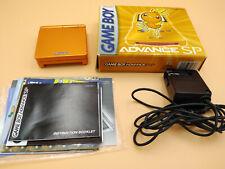 Nintendo Game Boy Advance SP Torchic Orange Complete Pokemon Center Limited GBA