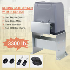 Smart 550W Sliding Gate Opener with Ir Sensors Remote Controls 3300lb 40ft Quick