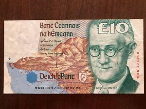 1998, IRELAND 10 PUNT BANKNOTE, CIRCULATED