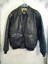 VINTAGE AVIREX USAAF ISSUE A2 DISTRESSED LEATHER FLYING JACKET SIZE L