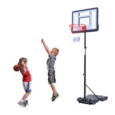 Adjustable 7Ft Basketball Hoop System Stand Youth Team Sports Pvc Backboard New