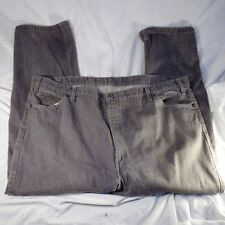 """Vtg Levis Two Horse Brand Denim Grey Jeans Leather Tab 50"""" x 29"""" Made in USA"""