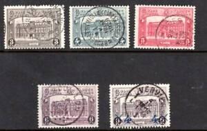 Belgium Scott # Q176 – Q179 & Q180 Round Post Office Cancels / Parcel Post  Used