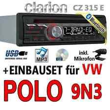 VW Polo 9N3 - Clarion BLUETOOTH | USB | CD | MP3 | AUX-IN |  Autoradio Einbauset