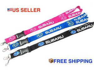 Subaru Car STYLISH Lanyard ID Phone Badge Holder Breakaway Clip Keychain NEW