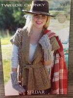 """Sirdar Knitting Pattern: Ladies Chunky Jacket, 32-54"""", 9063"""