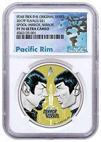 2017 Tuvalu Star Trek - Spock Mirror, Mirror 1 oz Silver NGC PF70 UC SKU48598