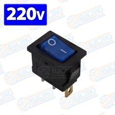 Interruptor ON OFF rectangular 220v 6A con luz - AZUL - Arduino Electronica DIY