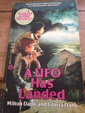 A UFO HAS LANDED By Dank ~ Vintage Children's Book ~ Paperback