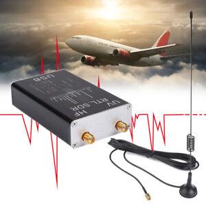 Full Band UV HF RTL-SDR 100KHz-1.7GHz USB Tuner Receiver/ R820T P7K5+Antenna US