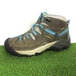 Keen Targhee II 2 Mid Womens Grey Blue Outdoor Hiking Boots Size 9.5