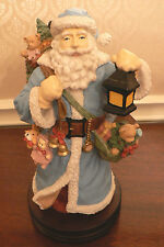 "MUSICAL VICTORIAN SANTA CLAUS FIGURINE PLAYS ""HERE COMES SANTA CLAUS"" STATUE"