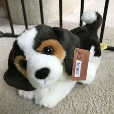 "Miyoni Beagle Pup Puppy Dog 11"" Brown White Black Stuffed Animal Plush AU26153"