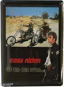 EASY RIDER DENNIS HOPPER PETER FONDA DAVIDSON - BLECHSCHILD 11cm x 8cm