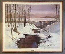 "Mel Kester ""Dawn"" Signed Limited Edition Lithograph Realist Landscape Artist"