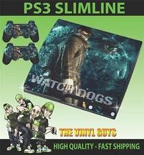 PLAYSTATION PS3 SLIM STICKER WATCH DOGS DEDSEC 001 AIDEN PEARCE SKIN & PAD SKINS
