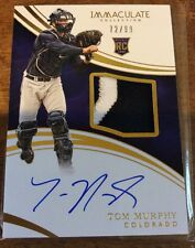 Tom Murphy• 3 Color Patch/Auto RC• 2016 Panini Immaculate Rookie Autograph/Relic