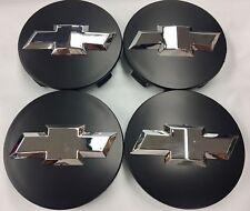 "4 Pcs Chevy, Center Cap, Black Chrome Logo, 83MM / 3.25"", Wheel 18"" 20"" 22"""