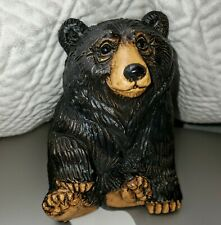 2004 Telle M. Stein Cute Bear Signed Adorable Cabin Lodge Decor The Stone Bunny