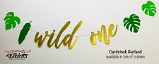 WILD ONE TROPICAL LEAVES THEME HAPPY BIRTHDAY PARTY BANNER GARLAND DECORATION