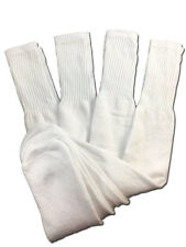 4 Pairs Mens White Tube Socks Big and Tall Extra Long Thick Cotton - 28 Inches
