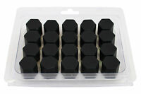 20pcs x BLACK Wheel Silicone 17mm Nut / Bolt / Screw Covers Caps #1300