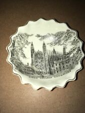 More details for vintage crested china w h goss - pin dish,kings college cambridge transfer print