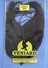 Straußenfeder Ostrich Teilstück aus Prachtfeder Fiberlänge 10 - 15 cm BLACK