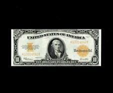 FULL COLOR 1922 $10 GOLD CERTIFICATE SUPERB ALMOST UNCIRCULATED