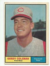 GORDY COLEMAN 1961 Topps Baseball card #194 Cincinnati Reds VG+