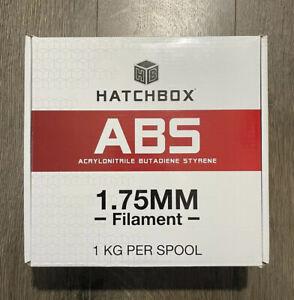 Hatchbox ABS 3D Printer Filament 1.75mm 1 KG Spool True Green Factory Sealed