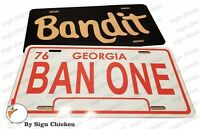 Smokey and the Bandit | 1977 Trans Am | BANDIT, BAN ONE SET Prop License Plates