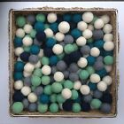 1.5cm Felt Balls Navy Grey White Mix Color Bundle Felt Wool Pom Pom DIY Crafts