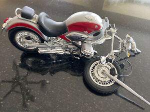 NewRay 1999 R1200C BMW Motorcycle 1/16 Die-Cast Red Damaged - See Pictures