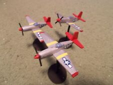 Flames of War 15mm, 1/144 Scale painted American Tuskegee P-51B Aircraft (3)