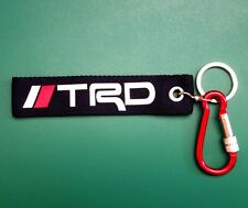 TRD TOYOTA Embroidered Fabric Screen Keychain Keyring Holder Car Free Shipping