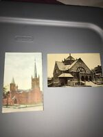 Vintage 1900s First Reformed Church Canton Ohio+all Souls Church Post Card Lot