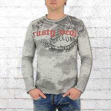 Rusty Neal Langarm T-Shirt Herren Force One grau Männer Tshirt Longsleeve Tee