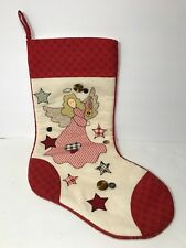 Christmas Stocking Quilt Design Angel Stars Buttons Prima Creations Super Clean