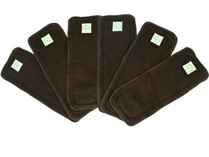 Re-Usable Nappy Inserts Bamboo Charcoal Infused Four-Layer Design Bamboo Fairy