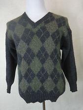 Damen-Pullover aus Wolle mit Karo -/Rauten-Muster