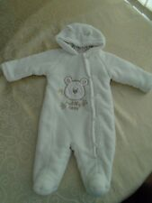 BHS babies snowsuit age 0-3 months hooded lined with ears
